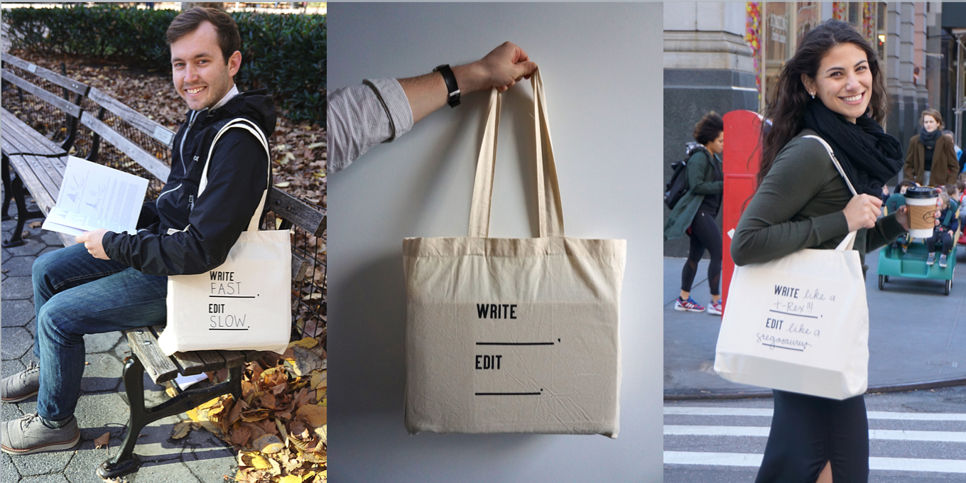 Write Blank Tote Bag