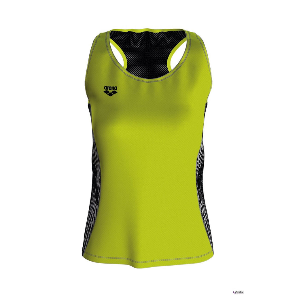 Arena Womens Run Tank Top Soft Green Black