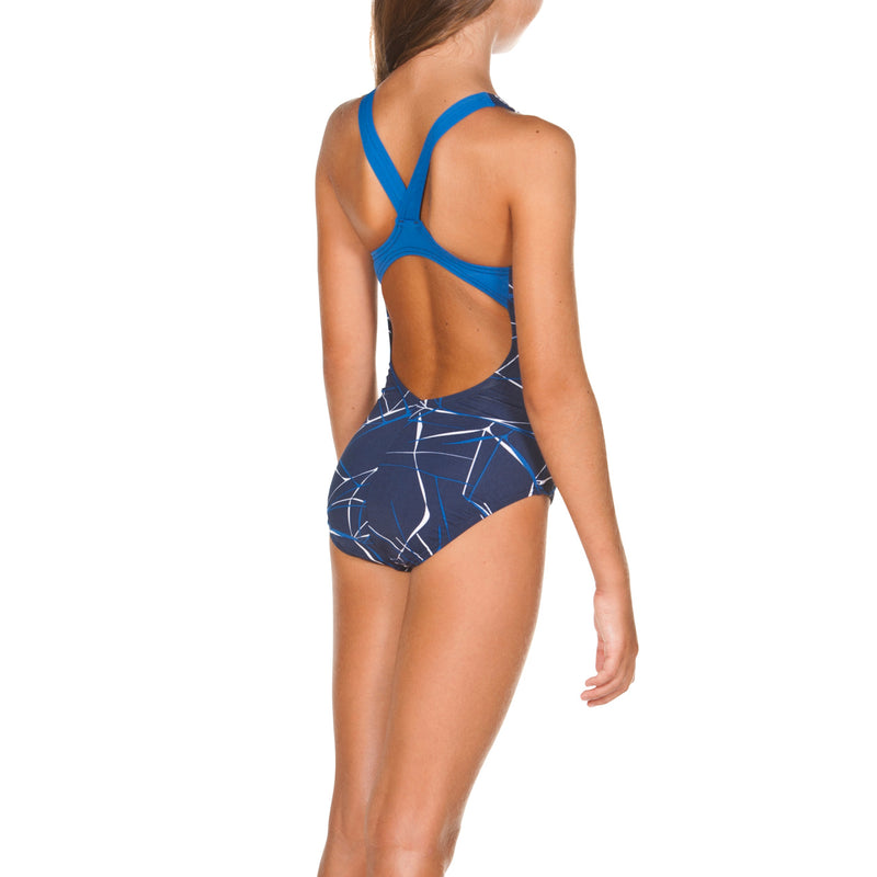 Arena Girls Water Jr New V Back One Piece Lined