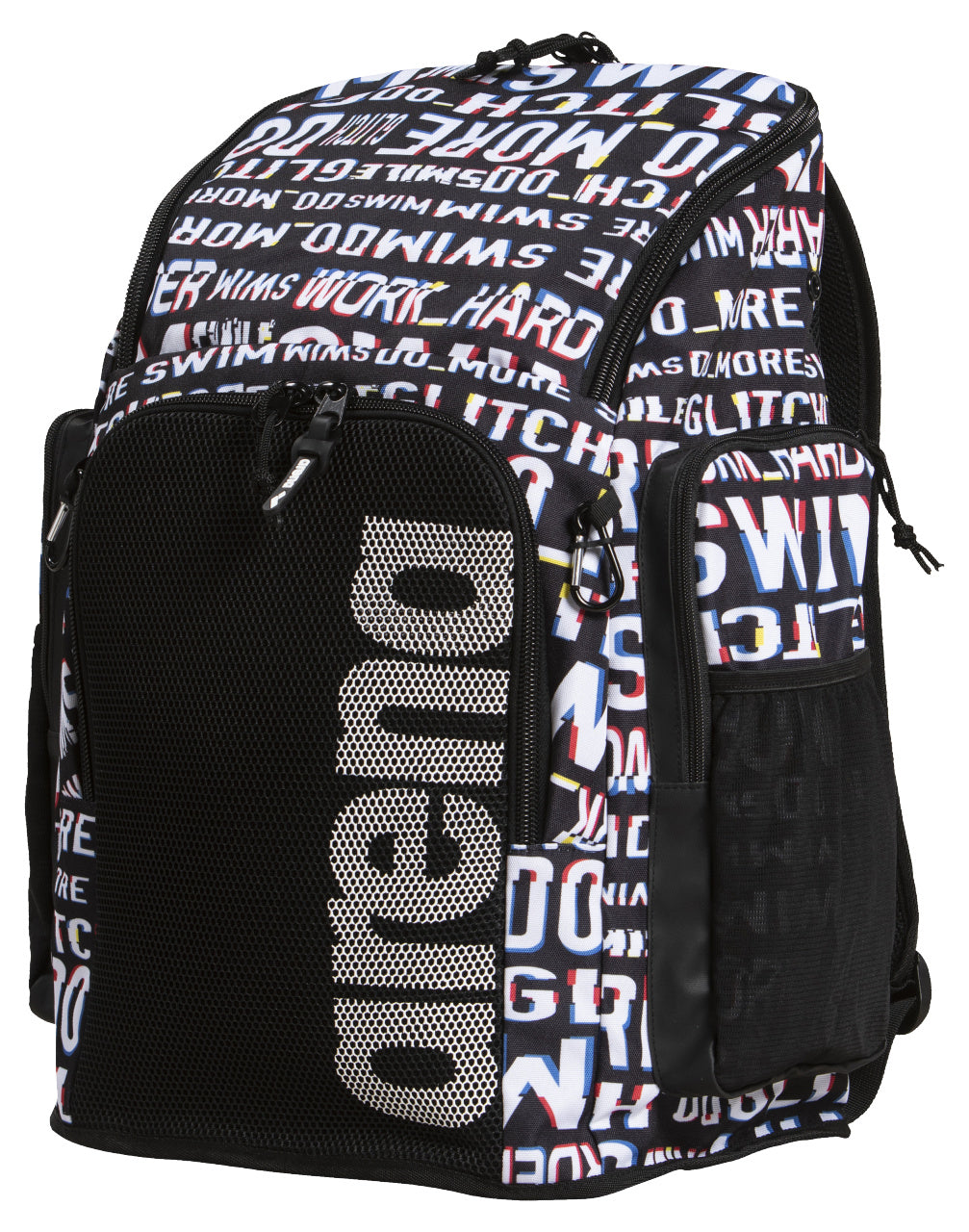 Arena Team Back Pack 45 ALLOVER Back Pack Neon Glitch