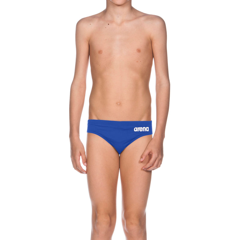 Arena Boy's Solid Brief Royal-White