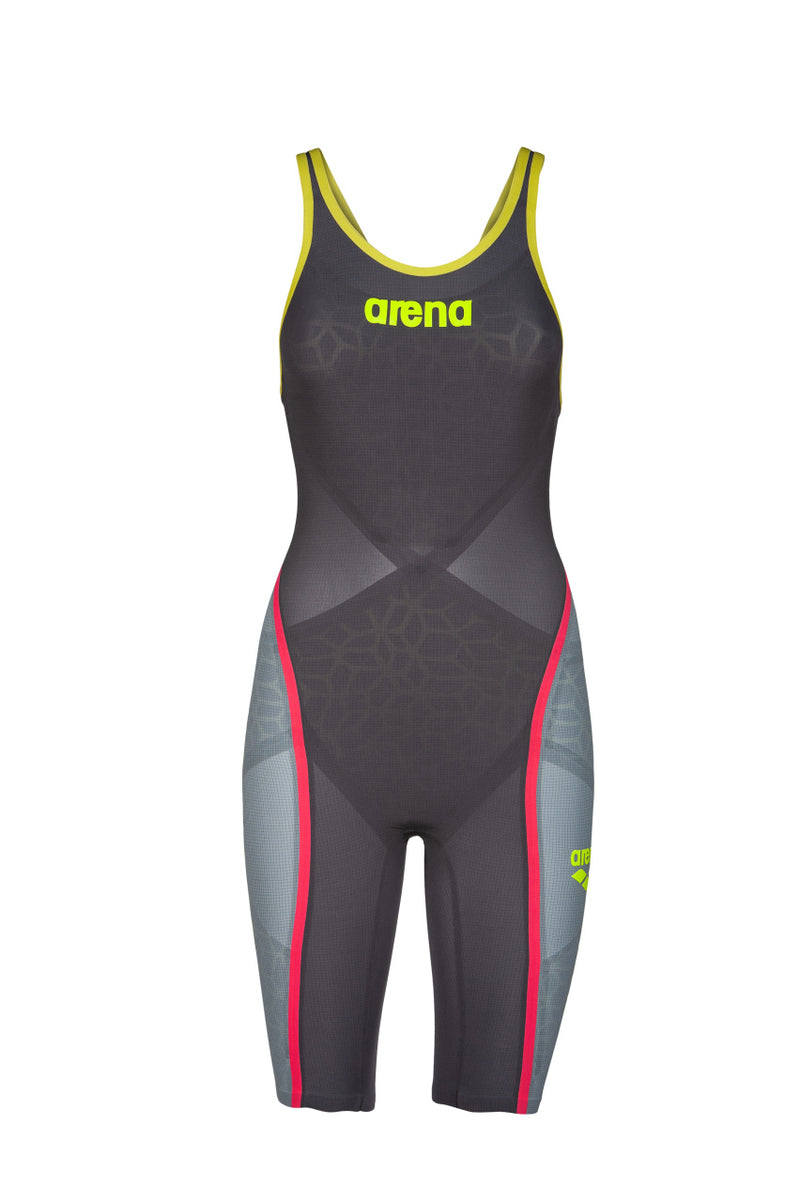 Arena W Powerskin Carbon Ultra FBSLOB - Dark Grey-Yellow