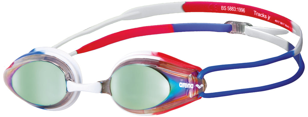 Arena Tracks Mirror Goggle Gold-Blue-Red