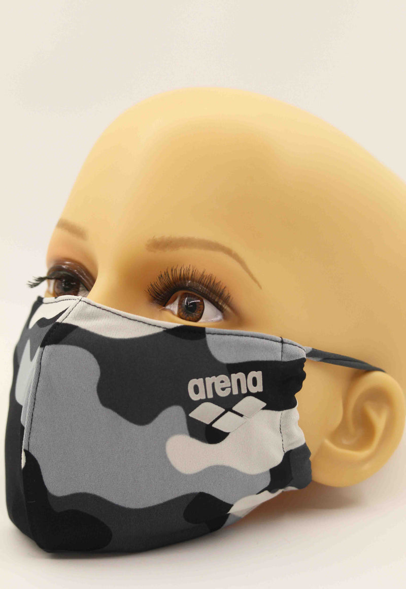 Arena Face Mask Black Feathers