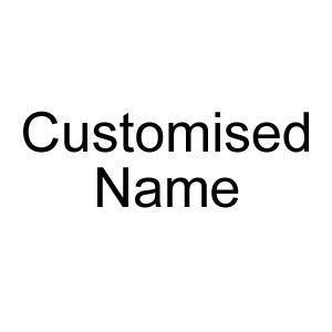 Customised Name Text