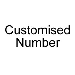 Customised Number Text