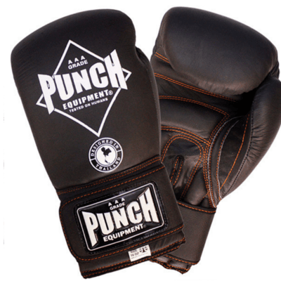 Punch Equipment MULTI-ITEM 902515     ~ BLK DIAM BOX GLOVES BLACK/ORANGE New zealand nz vaughan