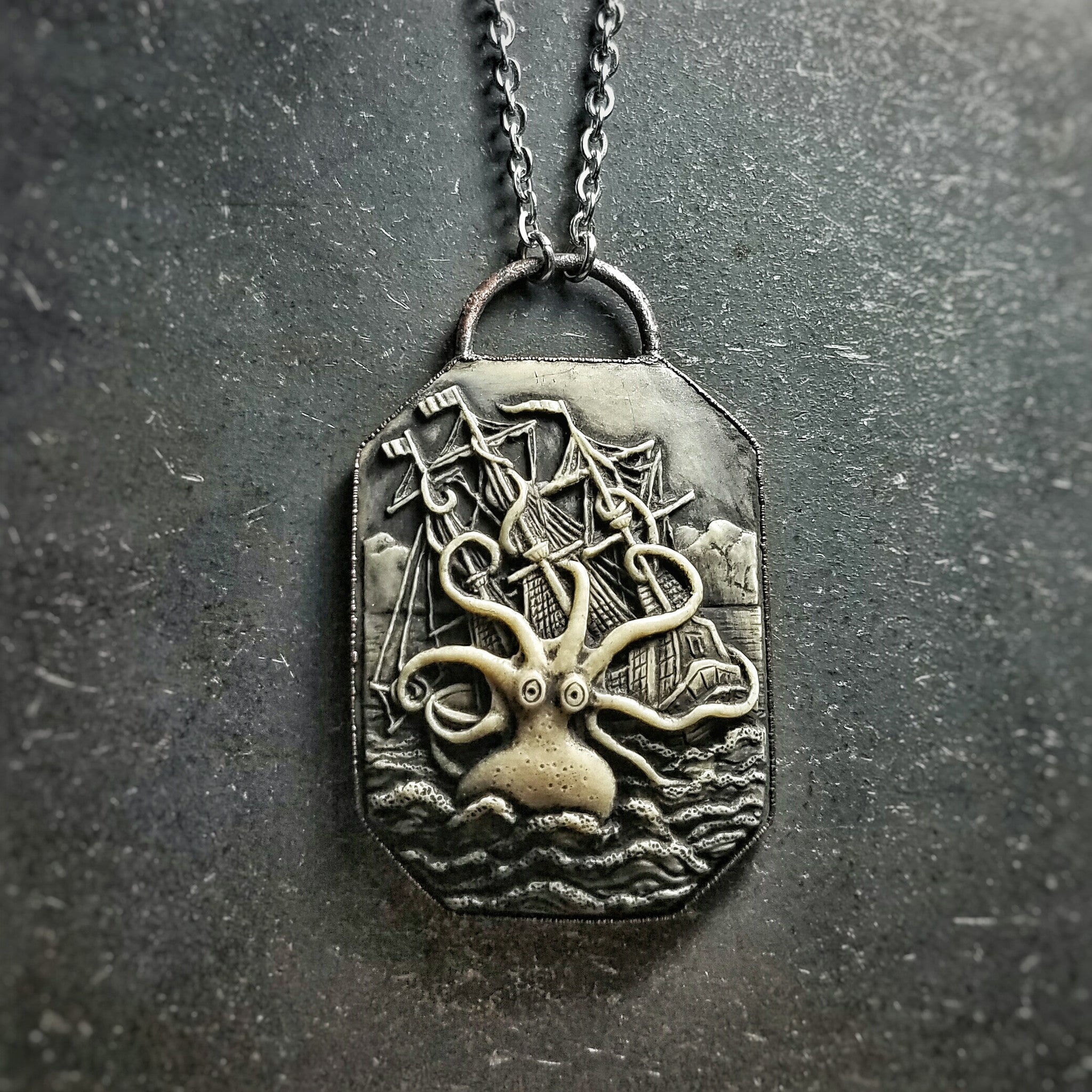 Kraken Cameo Necklace