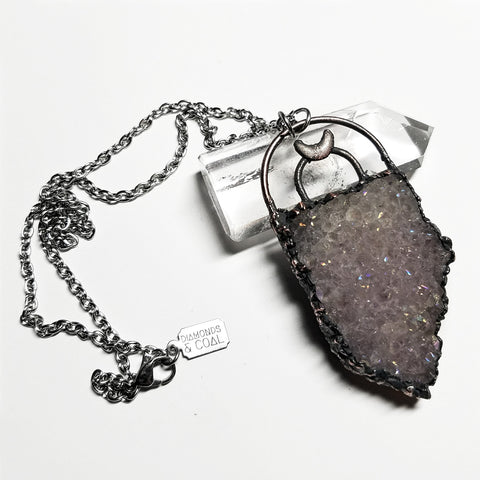 Electroformed Angel Aura Moonshield Necklace