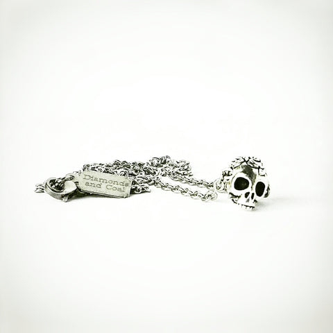 Tiny Day of the Dead Sugar Skull Silver Holiday Special