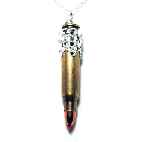 Blinged Out Bullet Necklace