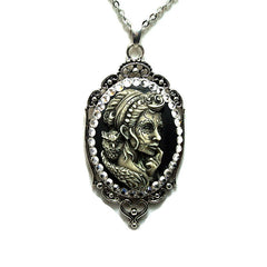 Lady Owl Sugar Skull Cameo Necklace