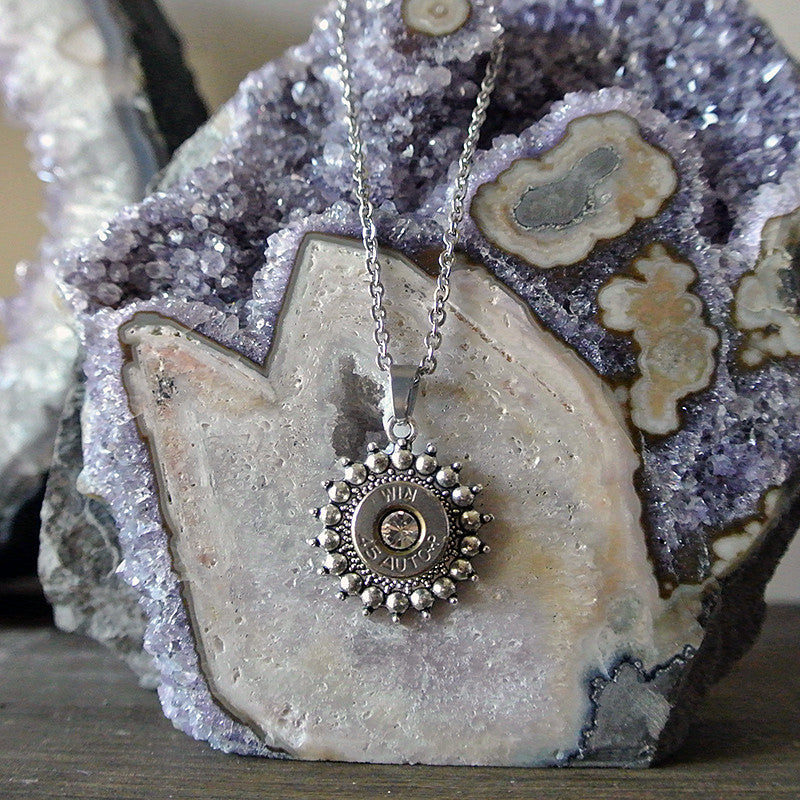 Silver Burst Silver Bullet Necklace 1