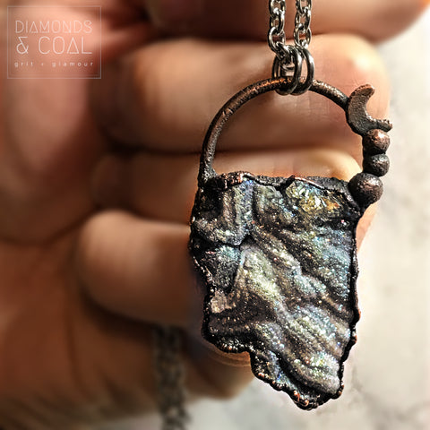 Electroformed Angel Aura Chalcedony Necklace #1