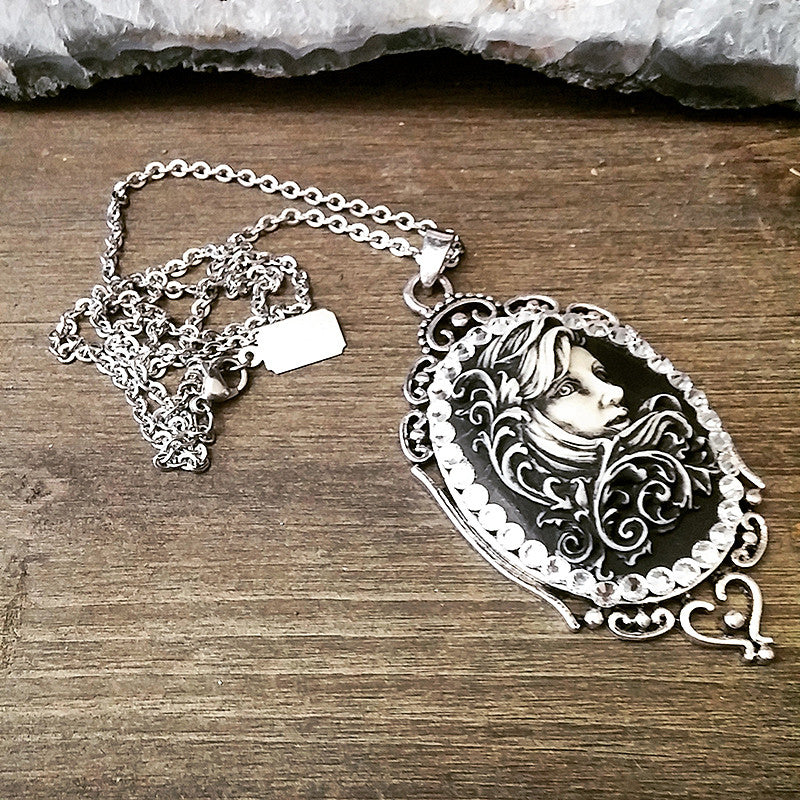 Siren of the Sea Cameo Necklace