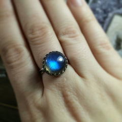 Labradorite Sterling Silver Luxe Ring