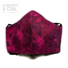Face Mask with Filter Pocket - Unisex - Size Medium - Pink Galaxy