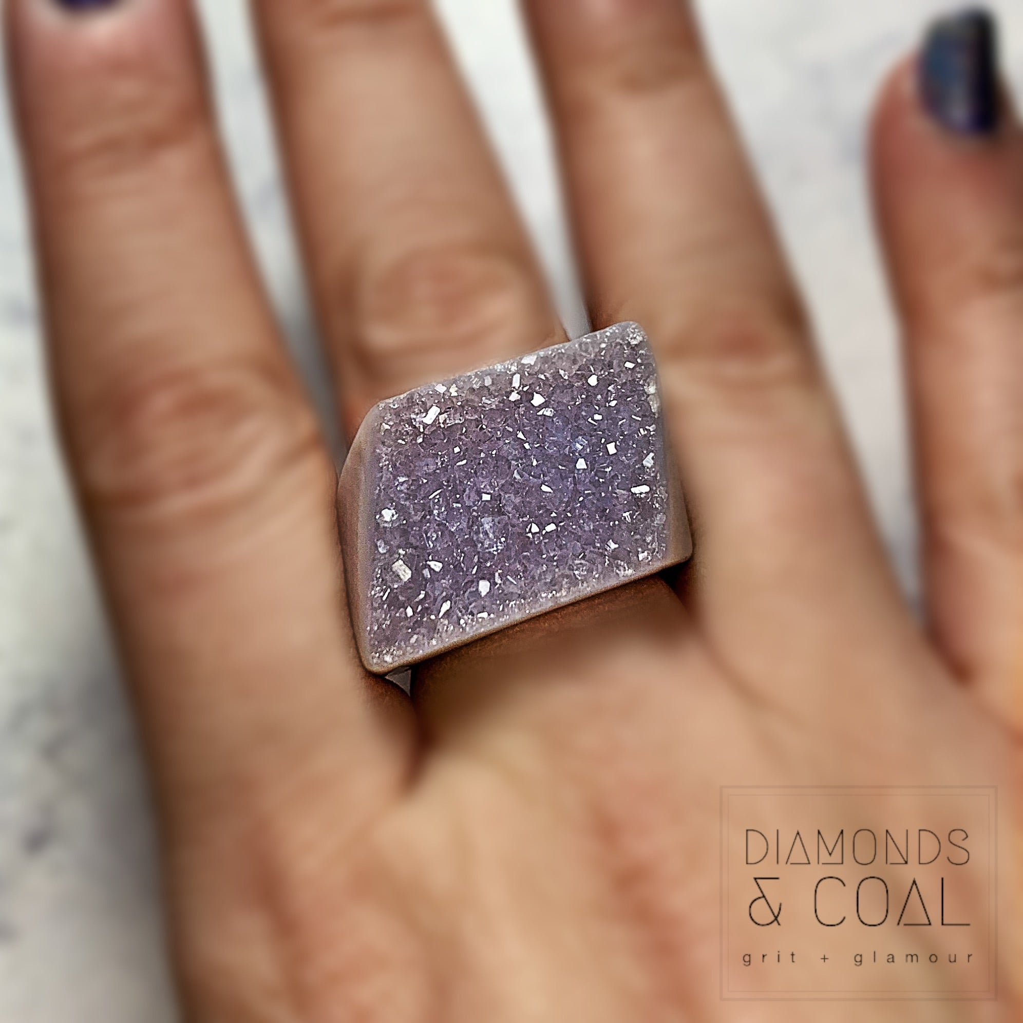 Druzy Agate Ring #5
