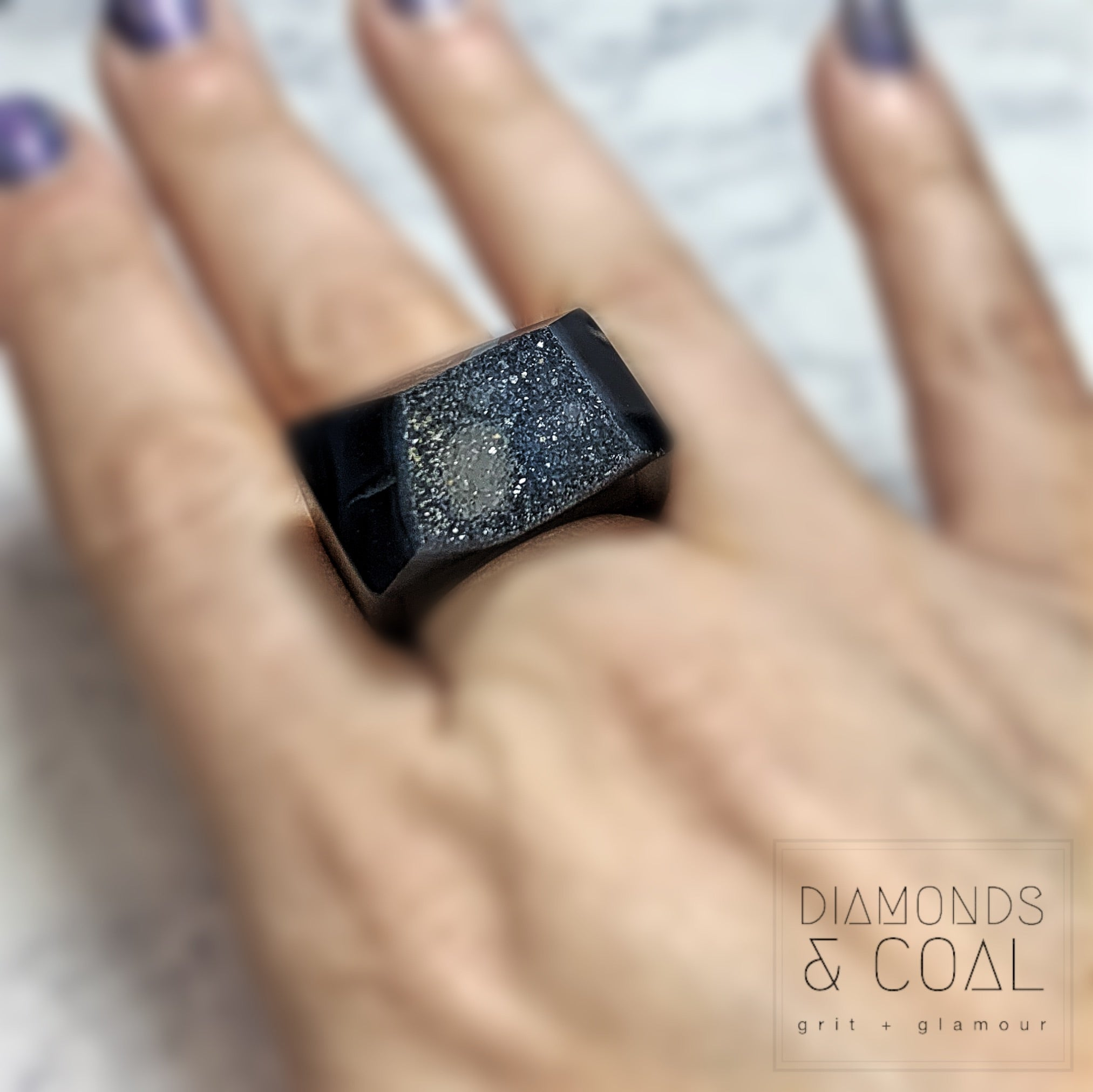 Druzy Agate Ring #4
