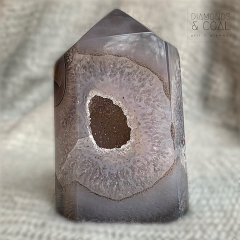 Druzy Agate Tower #7