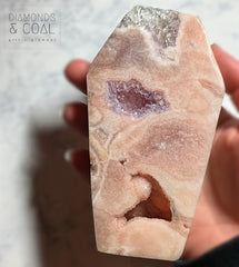 Pink Amethyst Coffin