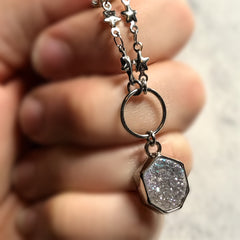 Druzy Stars Choker - Angel Aura Necklace