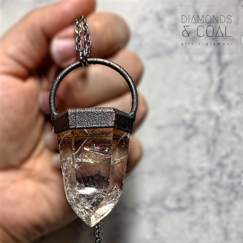 Electroformed Crackle Quartz Point
