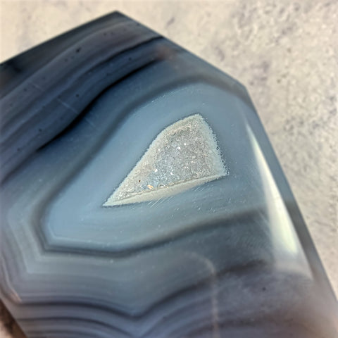 Druzy Agate Coffin #1