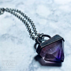 Electroformed Amethyst Point Necklace