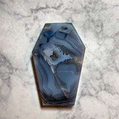 Druzy Agate Coffin #2