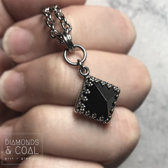 Black Onyx Pyramid Necklace