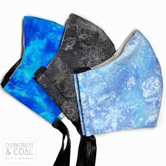 Citizen Face Mask with Filter Pocket - Unisex - Size Medium - Galaxy/Marble Designs