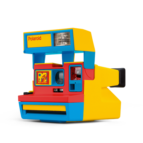 MTV Blue Yellow Red Polaroid Camera Front view