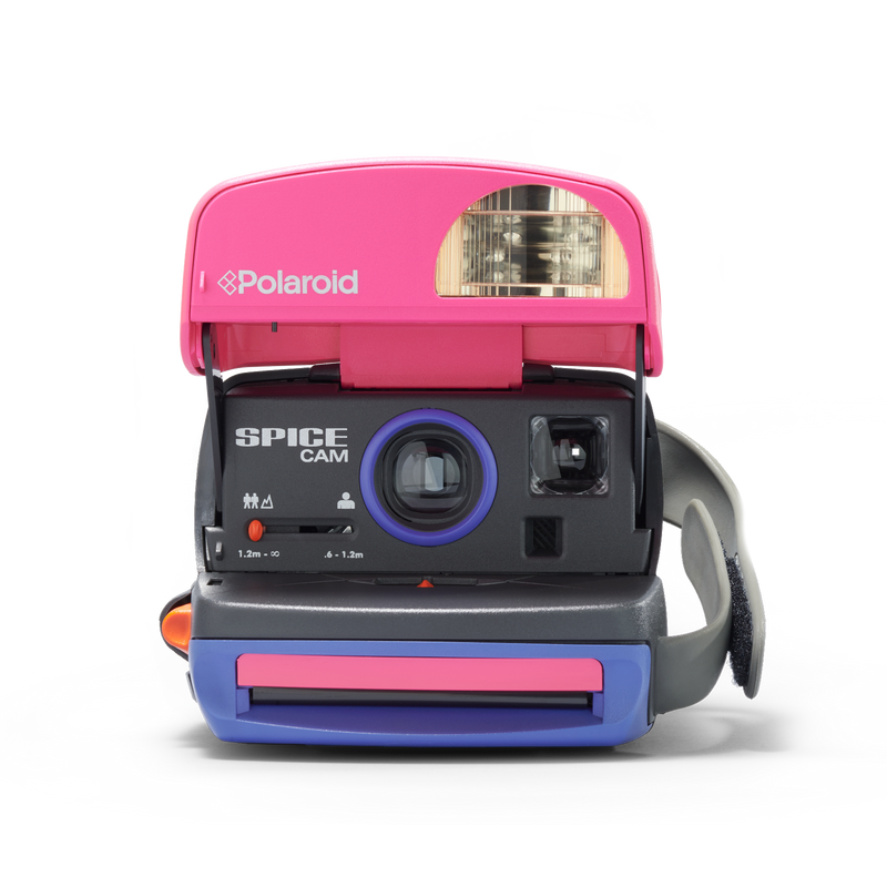 Pink, Grey and Purple Spice Girls Polaroid Camera Front view