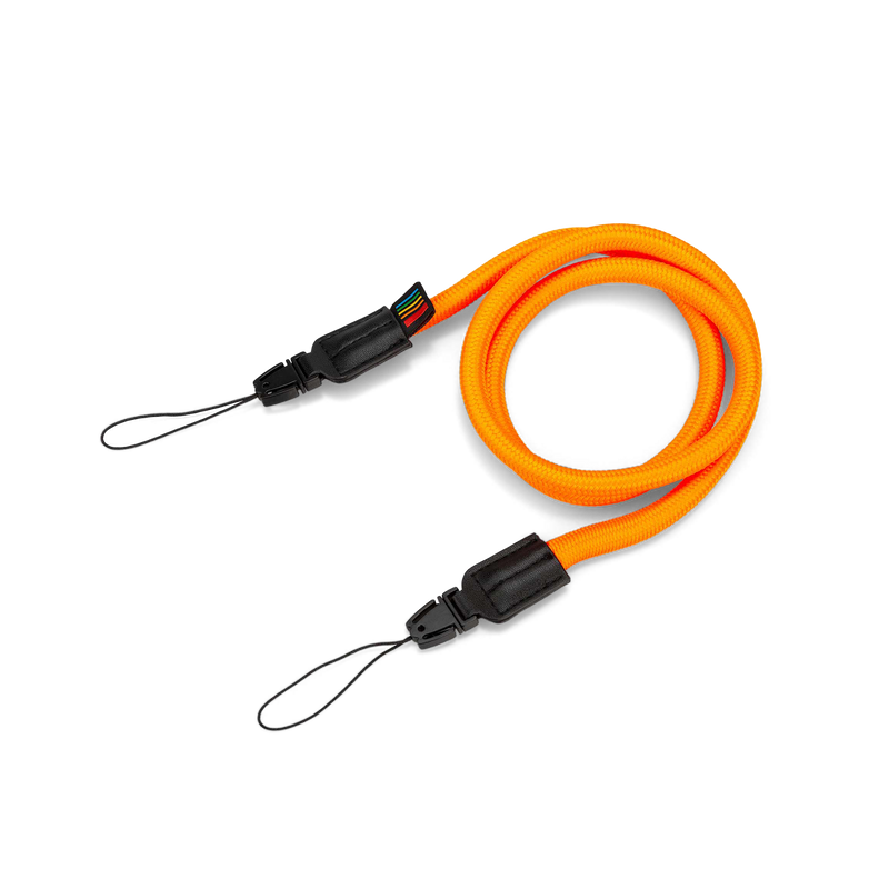 Orange Polaroid Camera Strap Round