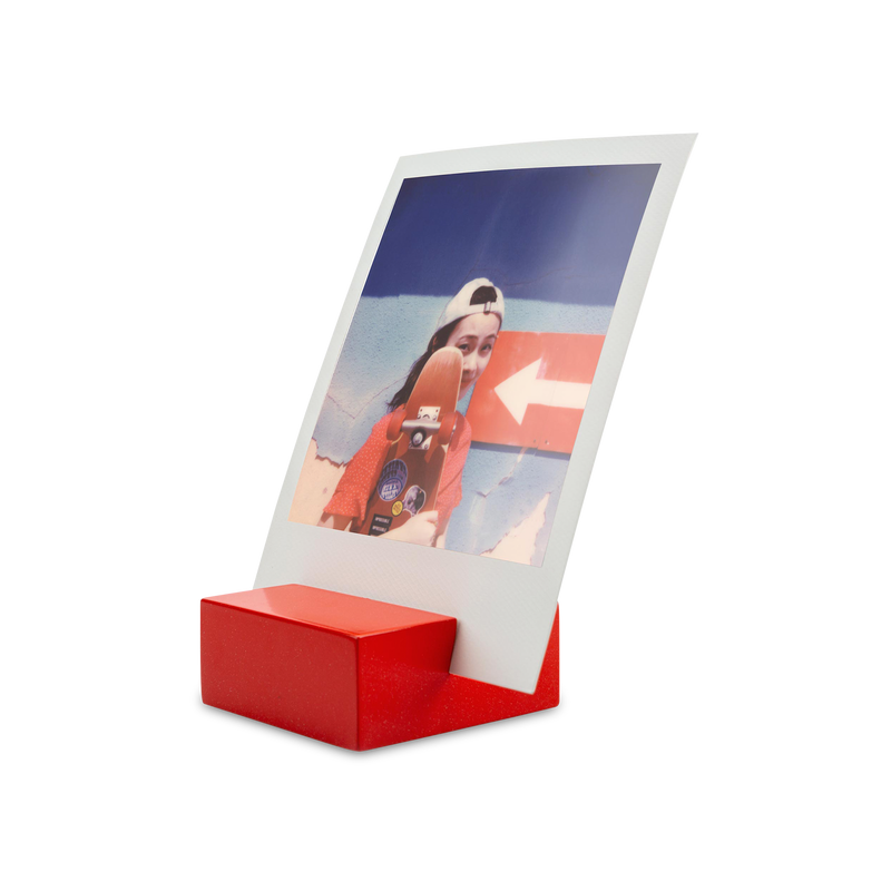 Polaroid Photo Stand red angle view