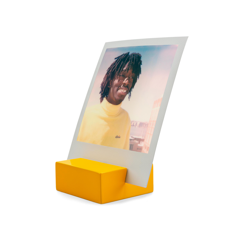 Polaroid Photo Stand yellow angle view