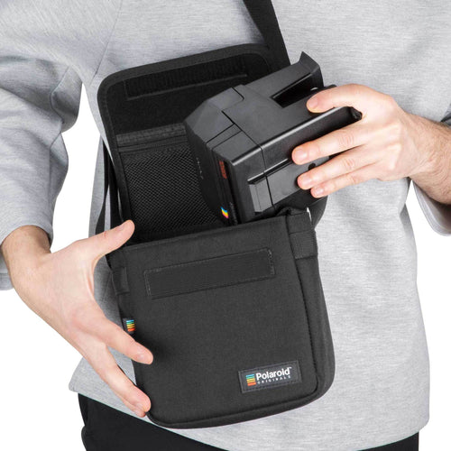 Polaroid Box Camera Bag Black Front view