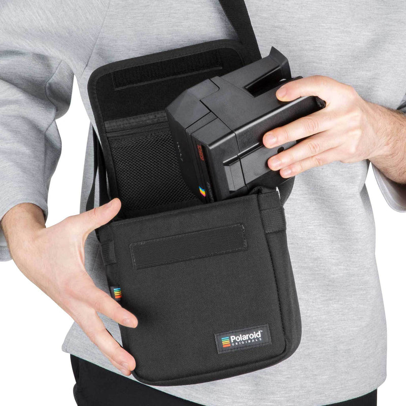 Polaroid Box Camera Bag Black In Use