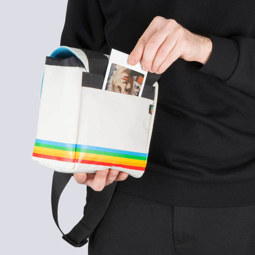 Polaroid Box Camera Bag White Front view
