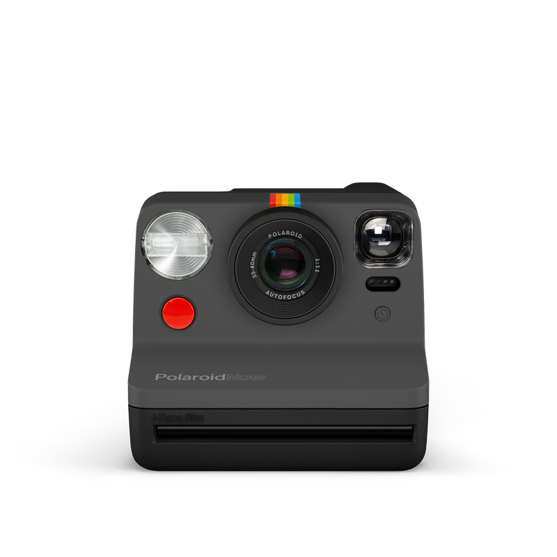 Polaroid Now Black Instant Camera Front view