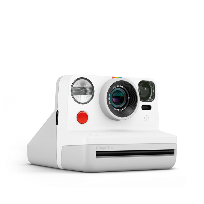 Polaroid Now White Instant Camera Angle view