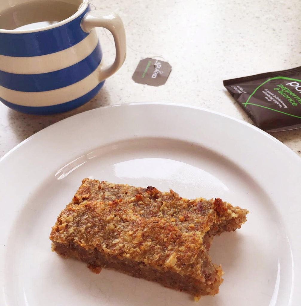 Delicious Maca and Pear Cinnamon Bars