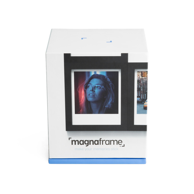 Black Magnetic Polaroid Picture Frames in packaging