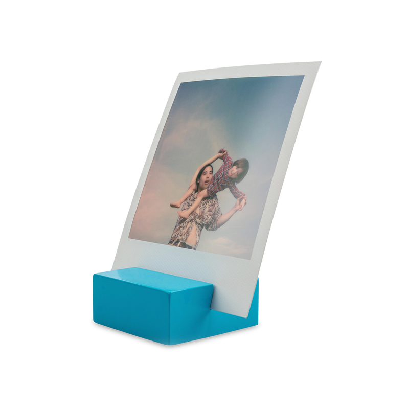 Polaroid Photo Stand blue angle view
