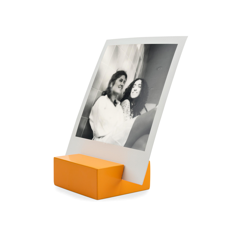Polaroid Photo Stand orange angle view