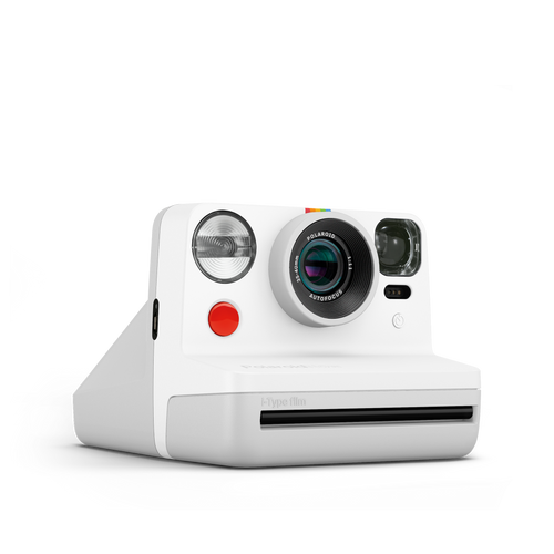 Polaroid Now White Instant Camera Front view