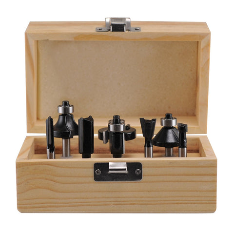 8 Pcs Carbide Router Bit Set