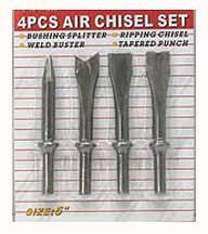 4 Pcs Air Chisel Set