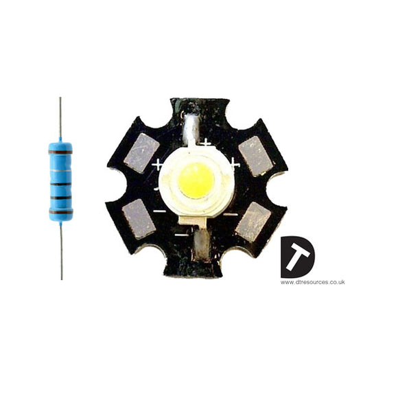 1W star light LED (X10 in a Kit)